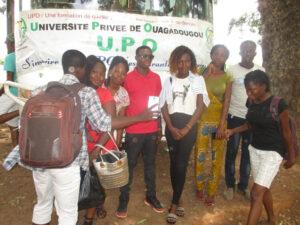 2017-2018 Etudiants de l'UPO lors de leur sortie sur Banfora