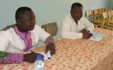 2017-2018 Le Pr COULIBALEY Babakane animant une conférence à l'UPO