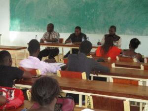 Rencontre entre Administration UFR-SJPA et étudiant de la Licence 2ème année